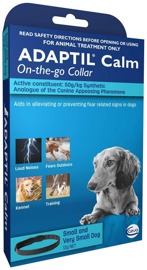 Adaptil Calm On the Go Dog Calming Canine Pheromone Collar for Anxiety and Fear Relief (Small and Very Small Dog)