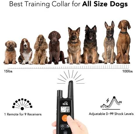 Dog Training Collar - Rechargeable Dog Shock Collar w:3 Training Modes Beep 4