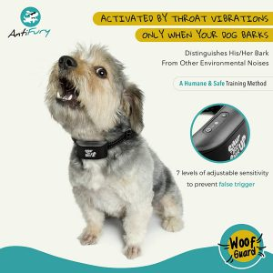 AntiFury Bark Collar for Small to Medium Dogs - Non Shock Rechargeable Collar for Dogs,